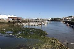 Boulogne sur meer Marina ohne Wasser
